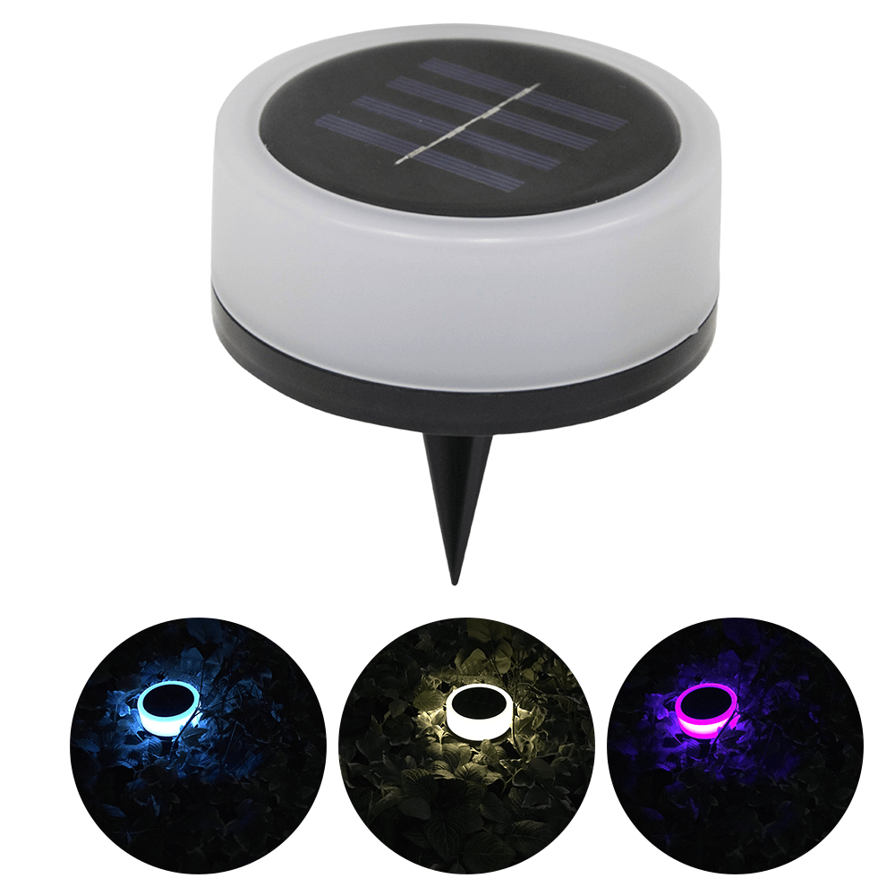 Solar grondspot Puck RGBW Multicolor en Warm Wit