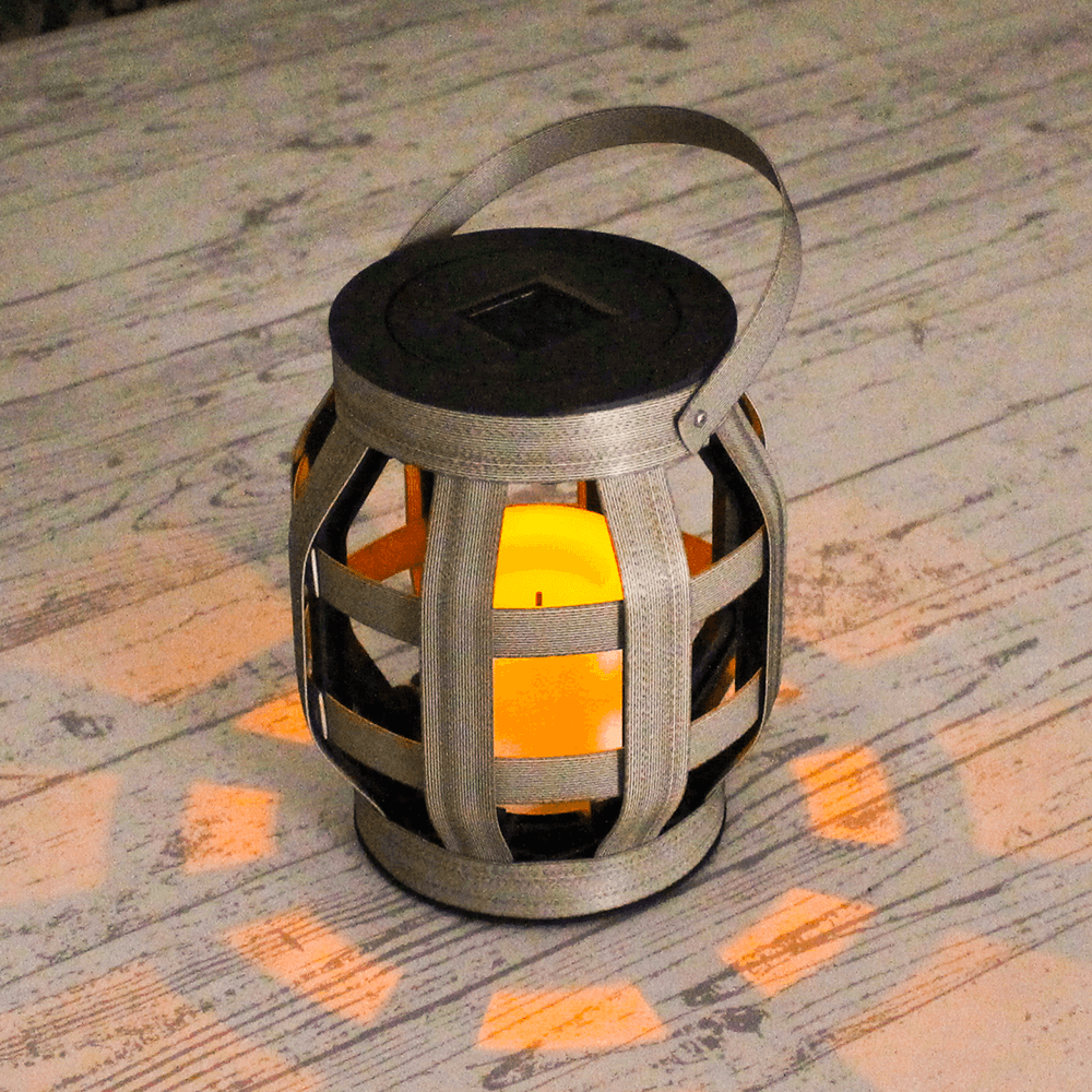 Solarlamp Woodstyle Small geweven rotanlook op zonne-energie